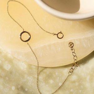 "Mejuri ""360"" bracelet 14k yellow gold"